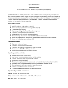 Spark Charter School Job Announcement Curriculum Development