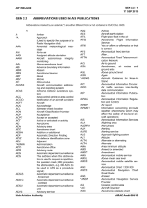 GEN 2.2 ABBREVIATIONS USED IN AIS PUBLICATIONS
