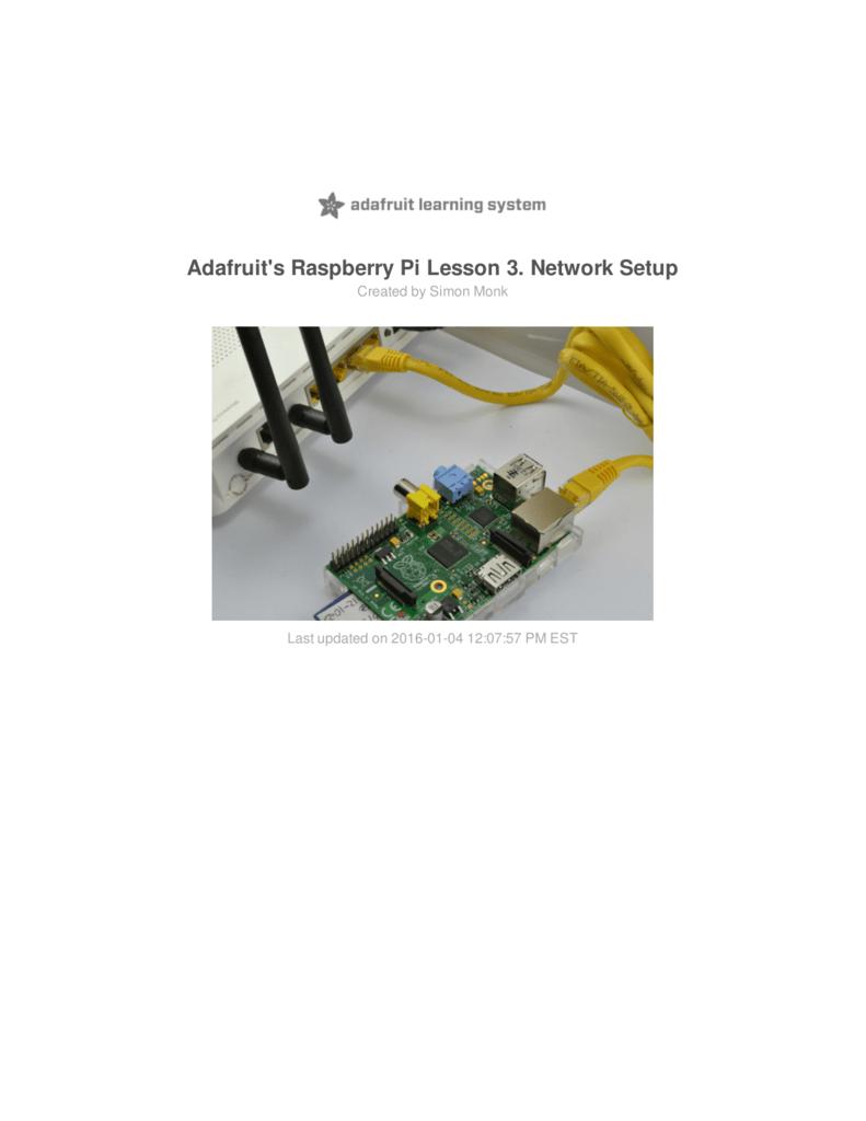 Adafruits Raspberry Pi Lesson 3 Network Setup Adjustable Breadboard Power Supply Kit Adafruit Industries