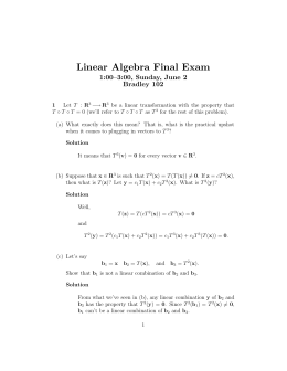 Linear Algebra Final Exam