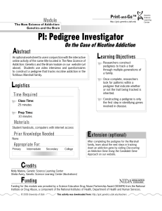 PI: Pedigree Investigator - Teach Genetics Website