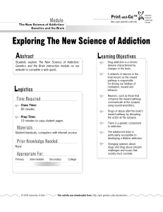 Exploring the New Science of Addiction Print-and-Go