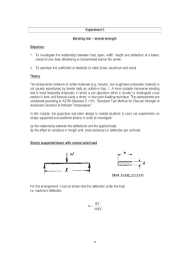 Experiment 3 Bending test – tensile strength Objective: 1