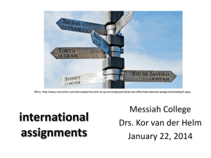 International Assignments