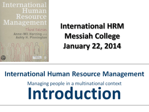 International HRM Introduction