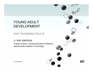 YOUNG ADULT DEVELOPMENT