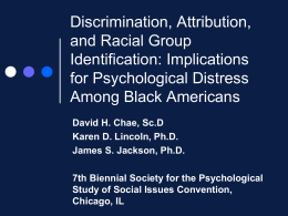 Discrimination, Attribution, and Racial Group Identification