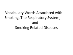 Vocabulary Words Associated with Smoking, The Respiratory