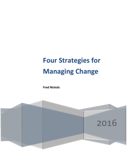 Four Change Management Strategies