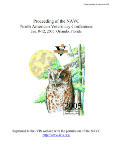 Prevention of FIP in Cat Shelters - Proceedings of the NAVC
