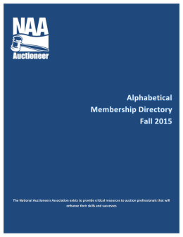 Membership Directory – By Last Name