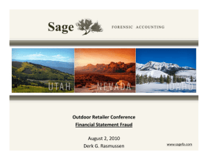 Financial Statement Fraud - Sage Forensic Accounting