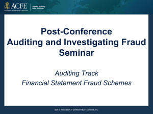 Post-Conference Auditing and Investigating Fraud Seminar