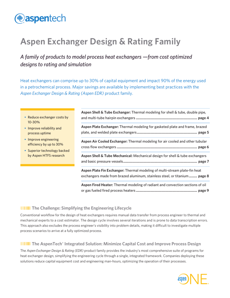 Aspen Edr Family Piping Layout Heat Exchanger