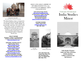 India Studies Minor Informational Brochure