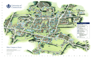 Map of UConn Storrs Campus - Jorgensen Center for the Performing