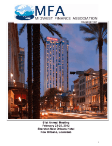 View or - Midwest Finance Association