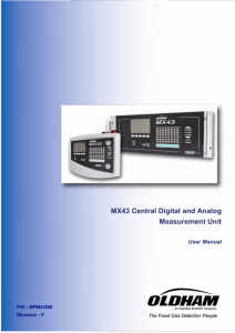 MX43 Central Digital and Analog Measurement Unit