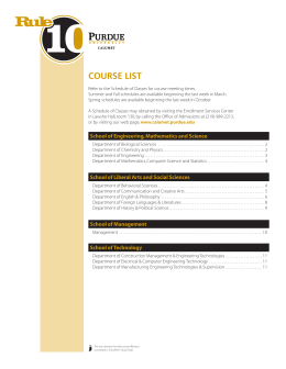 course list - Purdue University Calumet
