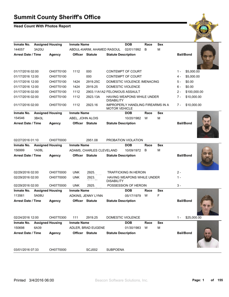 free summit county jail inmate information