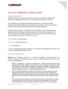 WGroup Principal Job Description 02-02