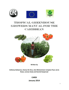 tropical greenhouse growers manual for the caribbean