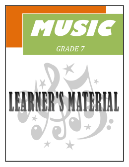Gr. 7 Music (Q1 to 4)