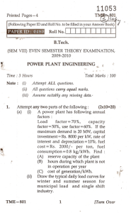 Power Plant Engineering-TME
