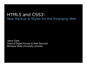 HTML5 and CSS3 - Montana State University