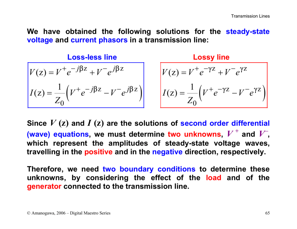 Travelling Wave Equation Of Transmission Line | Small Homes