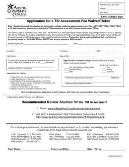 ACC Application for a TSI Assessment Fee Waiver