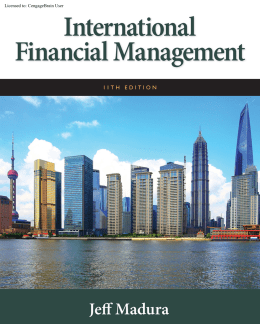 International Financial Management, 11th ed.