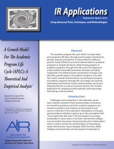 irapps33 - AiR - Association for Institutional Research
