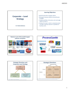 Corporate – Level Strategy