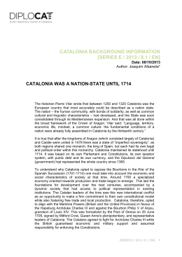 catalonia background information [series e / 2013 / 8.1 / en]