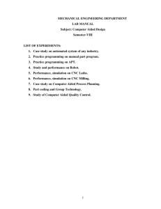 Computer Integrated Manufacturing (PLTW) Syllabus