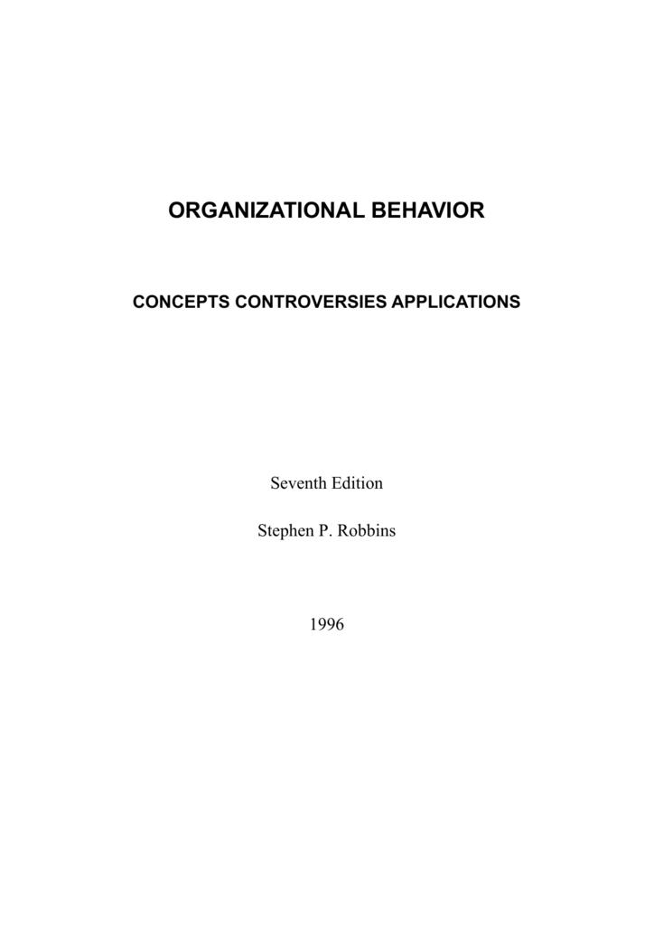 Stephen P Robbinsorganizational Behavior Full