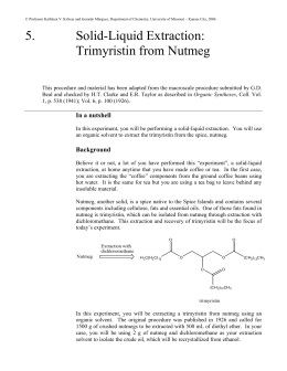 extraction of trimyristin from nutmeg lab