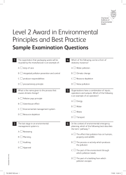 food safety test questions