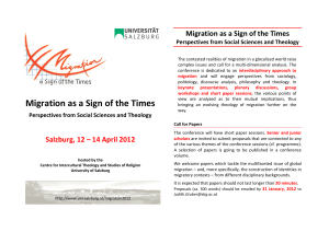Migration as a Sign of the Times