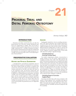 PROXIMAL TIBIAL AND DISTAL FEMORAL OSTEOTOMY