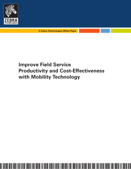Improve Field Service Productivity and Cost