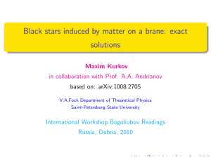 Black stars induced by matter on a brane: exact solutions
