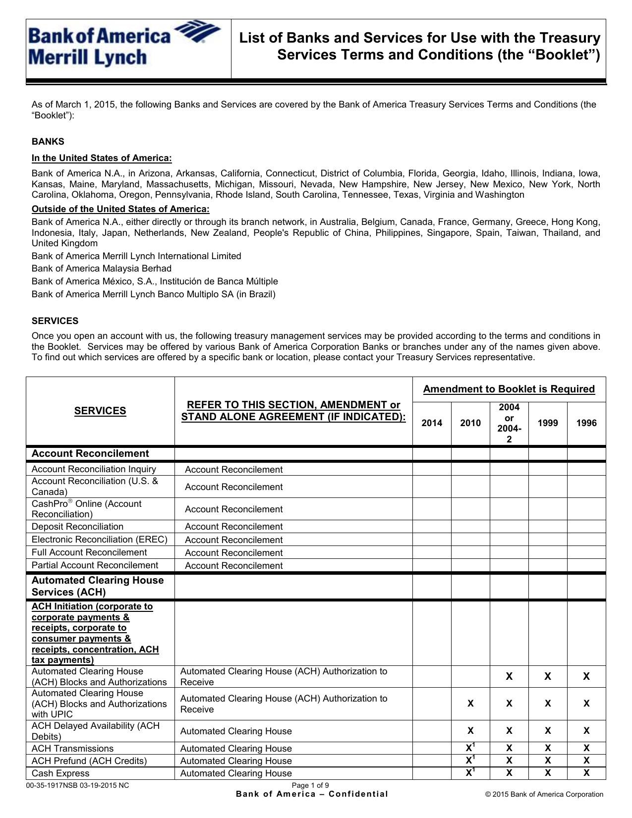 list of banks and services bank of america merrill lynch rh studylib net Merrill Lynch Bull Merrill Lynch Online