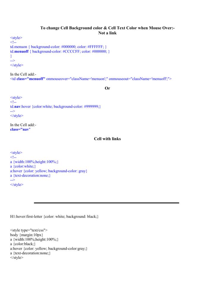 Sample CSS code - BarryMiller com au