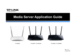Media Server Application Guide - TP-Link