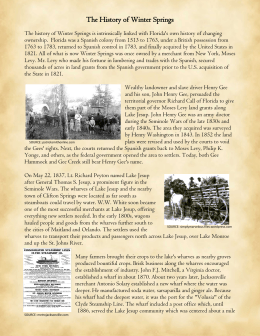 The History of Winter Springs