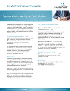 Event Conferencing Overview