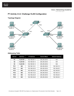 PT Activity 3.5.2: Challenge VLAN Configuration