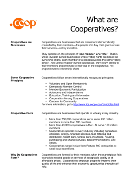 What are Co-operatives